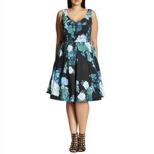 NWT City Chic Fresh Hydrangea Dress